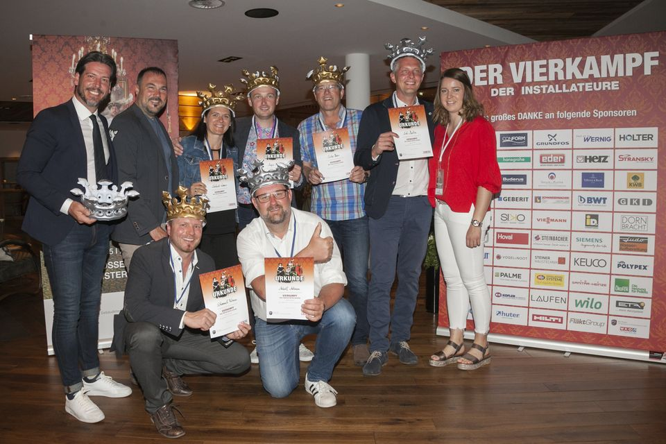 Die Sieger des diesjährigen Vierkampfes der Tiroler Installateure